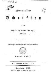Hinterlassene Schriften: Band 1