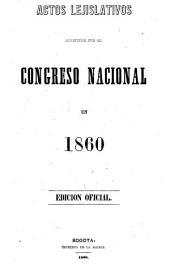 Actos lejislativos espedidos por el Congreso Nacional en ...