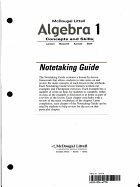 Algebra 1: Concepts and Skills: Notetaking Guide