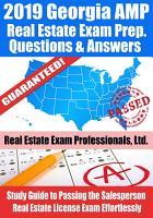 2019 Georgia AMP Real Estate Exam Prep Questions  Answers   Explanations PDF