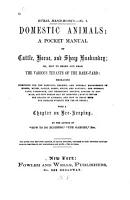 Domestic Animals  a Pocket Manual of Cattle  Horse  and Sheep Husbandry  Or  How to Breed and Rear the Various Tenants of the Barn yard  Etc PDF