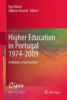 Higher Education in Portugal 1974 2009 PDF