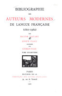 Download Bibliographie Des Auteurs Modernes de Langue Francaise Book