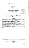 Summary Report of the Geological Survey Dept PDF