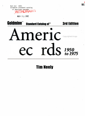 Goldmine Standard Catalog of American Records PDF