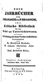 Jahnscher Jahrbücher für Philologie und Paedagogik: Bände 13-14
