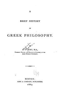 A Brief History of Greek Philosophy PDF