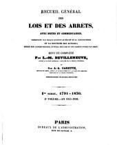 Recueil général des lois et des arrêts: avec notes et commentaires, présentant sur chaque question le résumé de la jurisprudence e la doctrine des auteurs; rédigé sur l'ancien Recueil généal des lois arrêts, Volume5