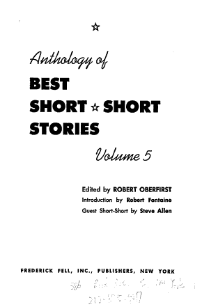Anthology of Best Short-short Stories