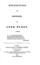 Reflections on shipboard, by lord Byron