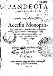 Pandecta legis Euangelicae