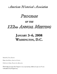 Program of the     Annual Meeting of the American Historical Association PDF