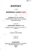 History of the European Languages PDF