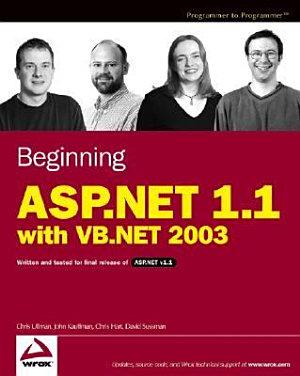 Beginning ASP NET 1 1 with VB NET 2003