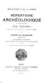 Répertoire archéologique de l'arrondissement de Reims: Communes rurales des trois cantons de Reims, par Ch. Givelet
