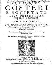 Conciones: Iam recens ex Belgico Idiomate, latinitate donatae, & in lucem editae. In Evangelia Dominicalia, ab initio Quadragesimae, usque ad Dominicam SS. Trinitatis inclusive, Volume 3