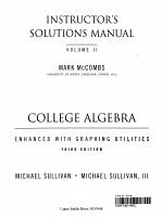 College Algebra Enhanced W Graphg Utilities PDF