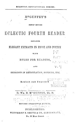 McGuffey s Newly Revised Eclectic Reader