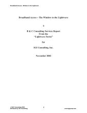 Broadband Access: The Window to the Lightwave