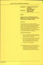 Design manual for roads and bridges