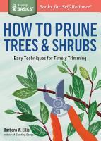 How to Prune Trees   Shrubs PDF