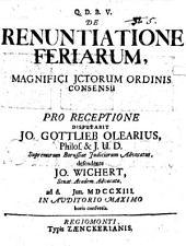 De renuntiatione feriarum