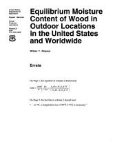 Equilibrium moisture content of wood in outdoor locations in the United States and worldwide