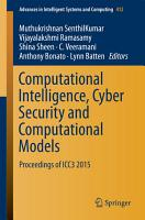 Computational Intelligence  Cyber Security and Computational Models PDF