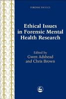 Ethical Issues in Forensic Mental Health Research PDF