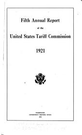 Annual report of the United States Tariff Commission