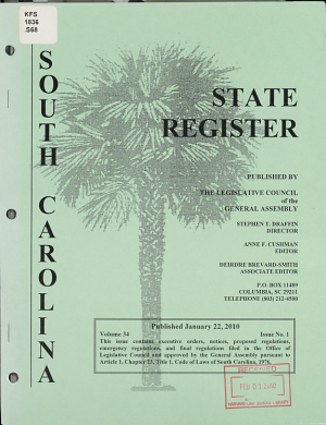 South Carolina State Register PDF