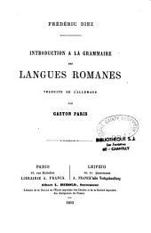 Introduction à la grammaire des langues romanes