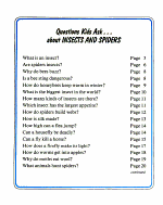 Questions Kids Ask about Insects and Spiders PDF