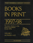 Books in Print 1997 98 PDF