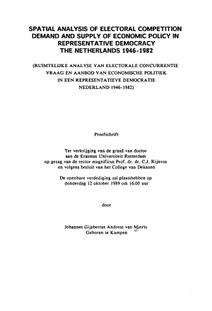 Spatial Analysis of Electoral Competition PDF
