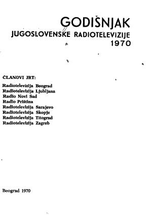 Godi  njak Jugoslovenske radiotelevizije PDF