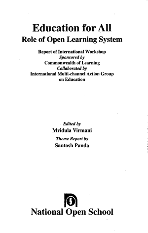 Education for All PDF