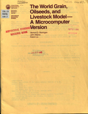 The World Grain  Oilseeds  and Livestock Model