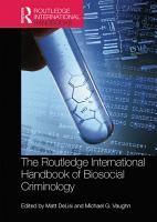 The Routledge International Handbook of Biosocial Criminology PDF