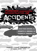 Forensic Engineering Reconstruction of Accidents PDF