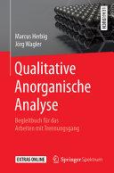 Qualitative Anorganische Analyse PDF