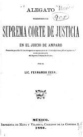 """Alegato presentado a la Suprema corte de justicia en el juicio de amparo promovido por el sr. d. Lino Arisqueta en repsentación de """"J. de la Quintana y Ca. en liquidacion,"""": contra una ejecutoria del Supremo tribunal de Sinaloa"""
