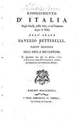 Risorgimento d'Italia negli studi, nelle arti e ne' costumi dopo il mille: Volume 2
