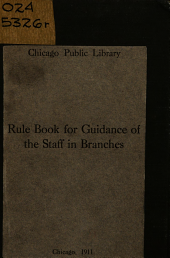 Rule Book for Guidance of the Staff in Branches