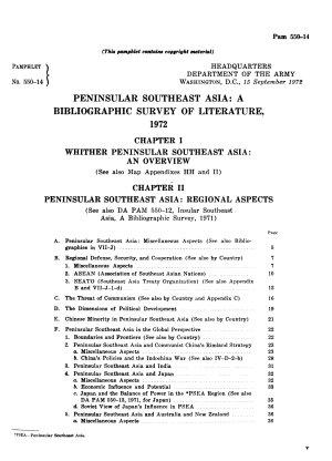 Peninsular Southeast Asia PDF