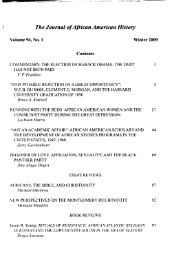 The Journal of African American History PDF