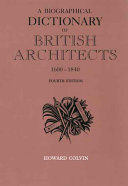 A Biographical Dictionary of British Architects  1600 1840 PDF
