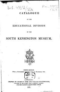 Catalogue of the Educational Division of the South Kensington Museum0 PDF