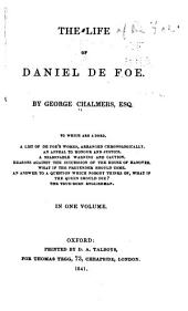The Life of Daniel De Foe