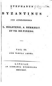 Stephanus Byzantinus: Volume 3, Part 1